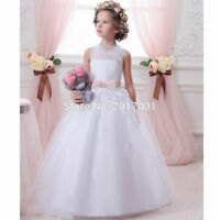 2020 Vintage Flower Girl Dresses for Wedding First Communion Gowns Girls Pageant
