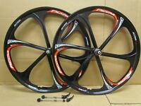 "26"" MTB Bike Magnesium Alloy Front Rear Wheel Set 8/9/10 Speed Disc Brake Only"