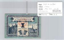 BILLET CHAMBRE DE COMMERCE CAEN ET HONFLEUR - 1 FRANC - 1920/1923 - SÉRIE B