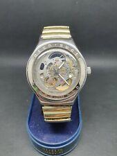 Swatch Mens Automatic Skeleton Watch Swiss Made Eta 2841-1