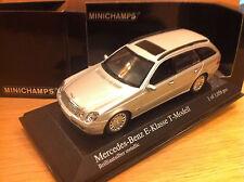MERCEDES CLASSE E BREAK W211 T-modell 2002 / 2009 1/43  MINICHAMPS silver