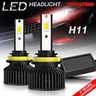 2PCS H11 CSP LED Headlight Bulbs Kits 120W High/Low Beam 6000K White 260000LM