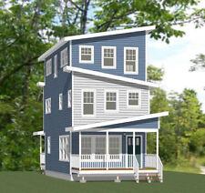 16x30 House -- 4 Bedroom 2.5 Bath -- 1,375 sq ft -- PDF Floor Plan -- Model 17
