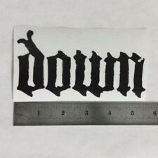 DOWN Vinyl DECAL STICKER BLK/WHT/RED Heavy Metal BAND Logo Window Anselmo LP