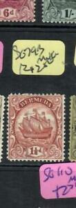 BERMUDA  (PP2507B) BOAT 1 1/2D    SG 79B   MNG