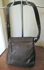 Wilson's Unisex Bag Cross Body Messenger Purse Carrier Brown Leather