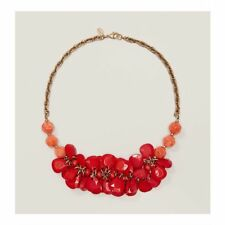 Ann Taylor LOFT Red Petal Bead Necklace NWT $44.50