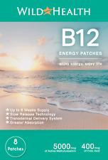 B12 Energy Patches (Methylcobalamin 5000 mcg) - plus folic acid. 8 Weeks Supply!