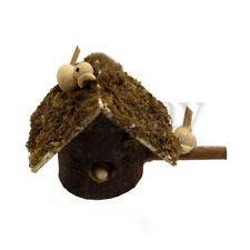 Miniature Birdhouse for Dollhouse Garden Miniature Fairy Garden Wooden Accessory