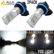Alla Lighting 2x2400lm H16 Super Bright 6000K White CSP SMD LED Fog Lights bulbs