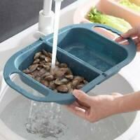 Foldable Drain Basket Fruit Vegetable Container Sink Storage Basin