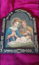 antico dipinto ad olio natività di fine settecento.