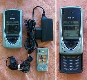 Original Nokia 7650 Slide Mobile Phone Type NHL-2NA Made in Finland.