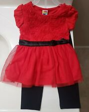 Girls 2T Christmas outfit , Red and black