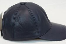 New 100% Real Genuine Lambskin Leather Baseball Cap Hat Sports Visor 32 COLORS