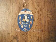 1937 Ideal SNOW WHITE doll WRIST Hang TAG (Reproduction)