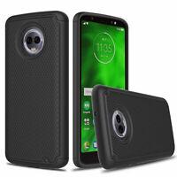 For Motorola Moto G6 Shockproof Hybrid Rubber Hard Armor Rugged Hard Phone Case