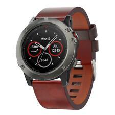 Leather Wrist Watch Band Bracelet Strap Belt 26mm for Garmin Fenix 3 Fenix 5X
