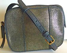Fossil Jenna Camera Shoulder Leather Bag Pewter Crossbody  NWT Glitz MSRP $138