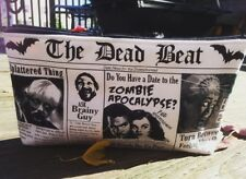 Zombie Newspaper Horror Handmade Make Up Cosmetic Bag School Art Case