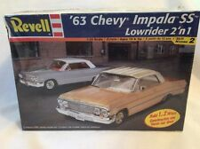 Revell '63 Chevy Impala SS Lowrider 2 'n 1 Model Car Kit #85-2176 Sealed! #119