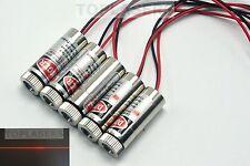 5pcs 650nm 5mW Focusable Line Beam Red Laser Module w/ Driver Adjustable Lazer