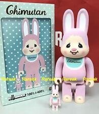 Medicom Bearbrick R@bbrick Monchhichi Chimutan Rabbit 400% + 100% Rabbrick set