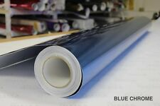 Blue Chrome Vinyl 5ft x 45ft Bubble-Free Wrap for Car Bike Boat Trailer