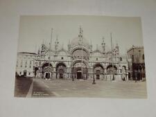 NAYA / VENISE VENEZIA 1870 Basilica San Marco VINTAGE Albumen Print Photo Foto