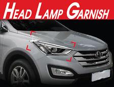 Chrome Head Lamp Garnish 2Pcs 1Set For Hyundai Santa Fe Sports 2013 2014