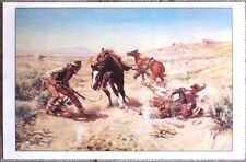 "The Cinch Ring by Charles M. Russell 24"" X 15.5"" Western Art Print"