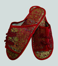 NEW  CHINESE HANDMADE silk satin Women's/ MenS Shoes Slippers size us 9
