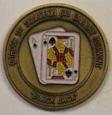 C-Troop 1st Squadron 6th Cavalry Black Jack Camp Eagle Army Challenge Coin