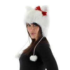CAT HOODIE HAT bow kitty kitten womens kids girls teen halloween costume 14+