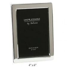 Silver Plated Flat Edge 4 X 6 Photo Frame 3619s