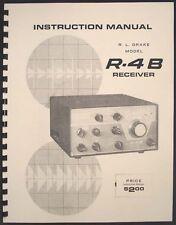 R.LDrake Drake R-4B R4B Ham Radio Receiver Manual