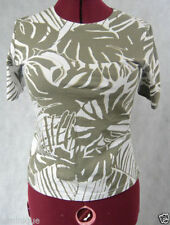 Cotton Blend Short Sleeve Unbranded Multi-Colored Tops & Blouses for Women