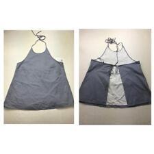 Theory women Ondrea blue white stripe Halter Tank Top open back size L Large 80