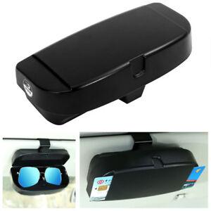 Universal Black ABS Car Sun Visor Sunglasses Box Card Inserters Storage Pockets