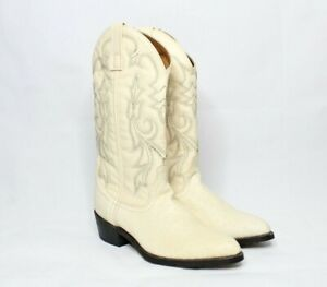 Laredo men's boots White Embossed Cowboy Western Size 8D Style 68016