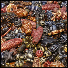 BEAD ( MIX C ) Acrylic plastic Antique Style Mixed Colour Brown Blue Gray 50g