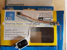 ESU 54800 Loksound Micro V4 DCC Kabel+6-pol.St. + Lautspr.+ Wunschsound OVP