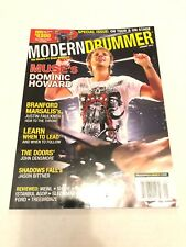 Modern Drummer Magazine January 2010 Dominic Howard Of Muse