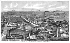 Leipzig,  das akademische Viertel, Orginal.-Holzstich 1885
