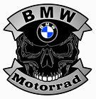 BMW Motorrad SKULL Sticker vinyle laminé
