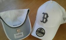 BOSTON RED SOX MEN'S NEW ERA TONE TECH REDUX WHITE & GRAY 3930 FLEXFIT HAT, LXL