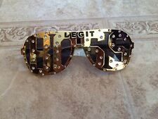 SASHA BANKS WWE Authentic LEGIT BOSS Studded Gold Shades Sunglasses NEW the Boss