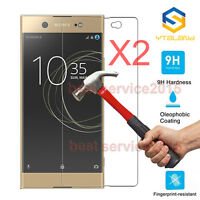 2Pcs 9H+ Tempered Glass Screen Protector For Sony Xperia XA1 Ultra G3221 / G3223