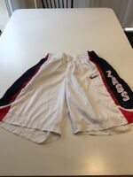 Game Worn Used Nike Gonzaga Bulldogs Zags Basketball Shorts Size 42
