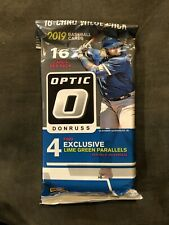 2019 Donruss Optic Baseball MLB Trading Cards 16c Value Pack W/ 4 Blue Parallels